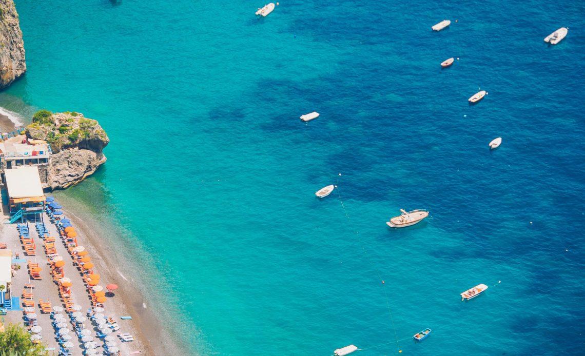 Beautiful coastal towns of Italy - scenic Positano in Amalfi coast