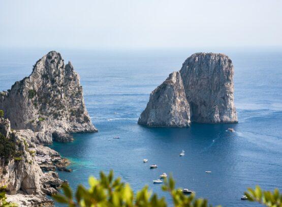 Vista dei Faraglioni di Capri