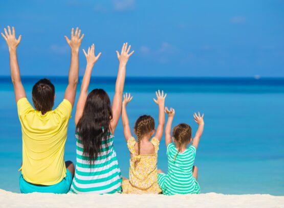 Famiglia in vacanza a Positano