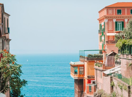 View of the street in Sorrento, Italy