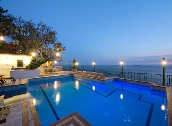 villa oliviero a positano esterno piscina