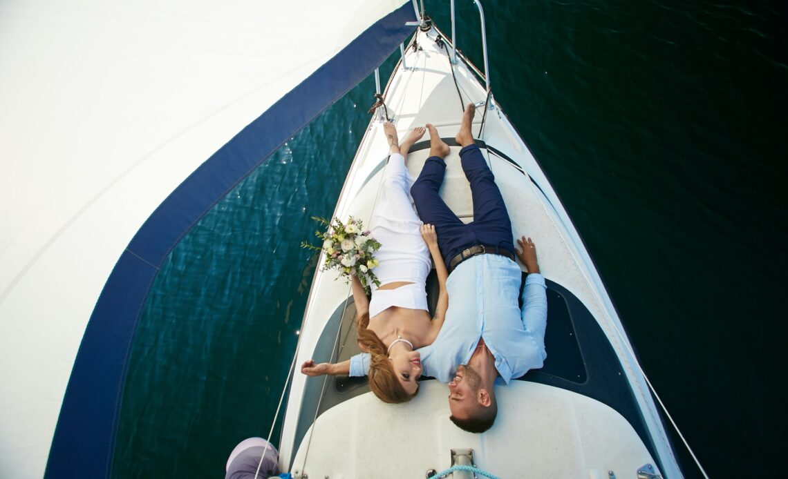 Relaxing on yacht