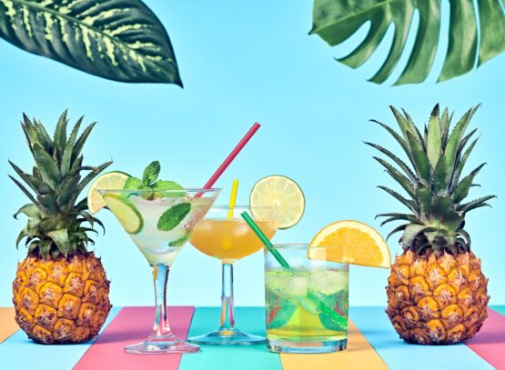 Pineapple with Cocktail